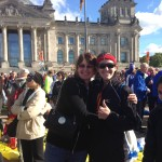 Lins & Me In Front Of Reichstag After Marathon